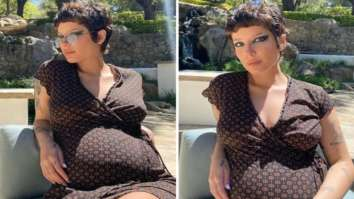 Pregnant Halsey is all about smokey eye and cutesy wrap dress as she soaks in the sun