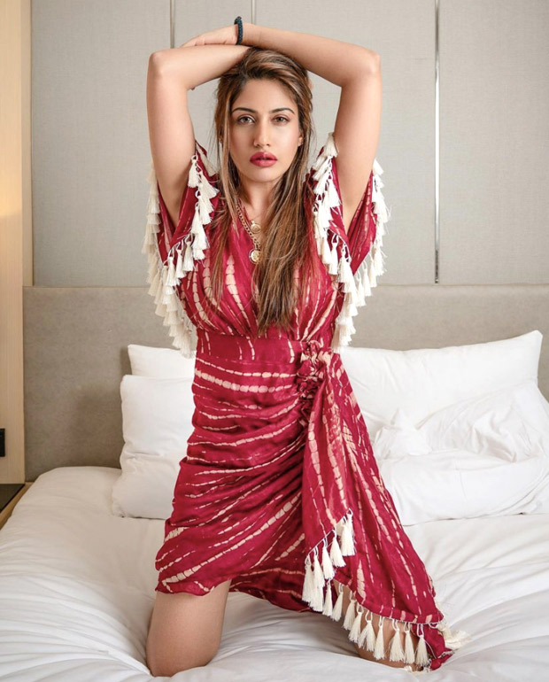Surbhi Chandna sets the summer vibe in red and white tie-dye dress