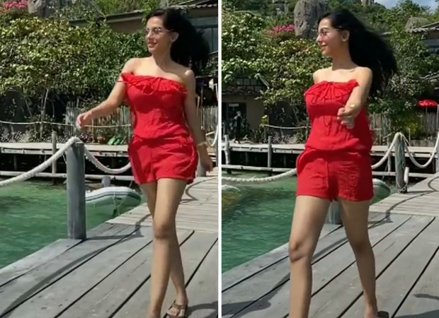 Amrita Rao soaks in the sun in red romper, plays BTS' 'Dynamite' in her latest Instagram reel