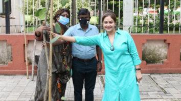 BMC Asst Comm Vishvas Mote brings together animal activists Ayesha Jhulka and Anusha Srinivasan Iyer in tree plantation to Make Earth Green Again