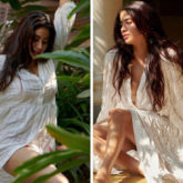 Janhvi Kapoor is a vision in white thigh-high slit dress