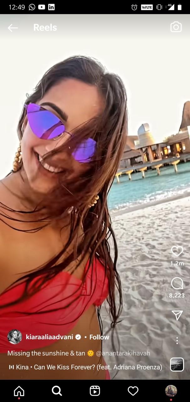 Kiara Advani sizzles in poppy pink bikini in this throwback beach video