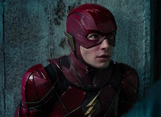 Leaked photos surface from The Flash set featuring Ezra Miller and Kiersey Clemons as Barry Allen & Iris West, Michael Keaton as Batman,Sasha Calle as Supergirl