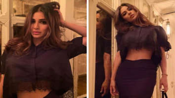 Mouni Roy is on fierce mode in black crop top and skirt worth Rs. 24,722