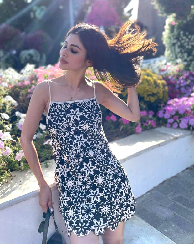 Mouni Roy steps out in floral embroidered slip dress and sneakers