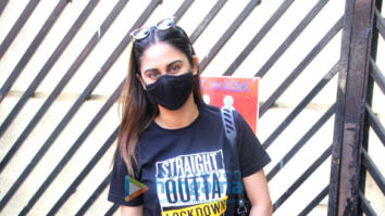 Photos: Krystle D'Souza and Nikita Dutta spotted outside Mehboob studio in Bandra for vaccination