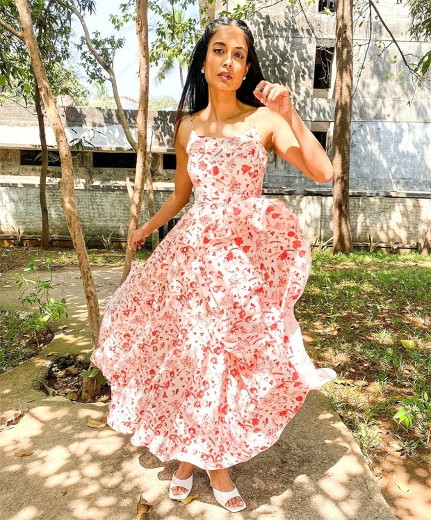Sarah Jane Dias exudes summer vibes in strappy maxi dress with red motifs (1)