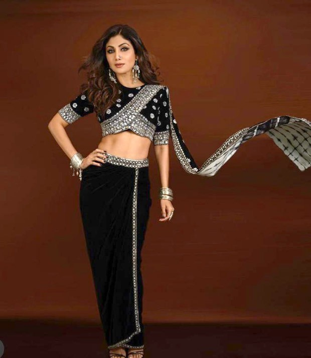 Shilpa Shetty flaunts her perfect figure in velvet crop top and skirt worth Rs. 46,000