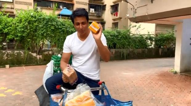 Sonu Sood sells bread and eggs as he introduces 'Sonu Ki Supermarket'