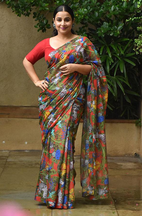 Vidya Balan snapped promoting her film Sherni (1)
