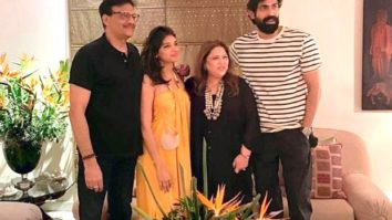 Rana Daggubati poses with his in-laws as he and Miheeka Bajaj spend time with family; see pic