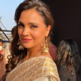 Lara Dutta displays her witty side as she responds to a question on getting vaccinated
