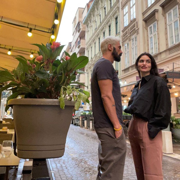 Arjun Rampal and Gabriella Demetriades spotted holidaying with son Arik in the European city of Budapest