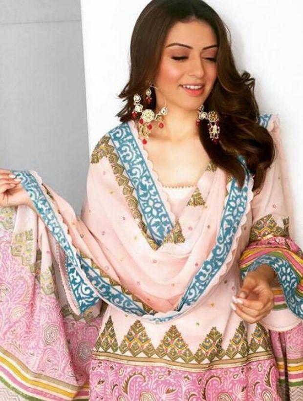 Hansika Motwani is the queen of ethnic prints in Sukriti and Aakriti sharara