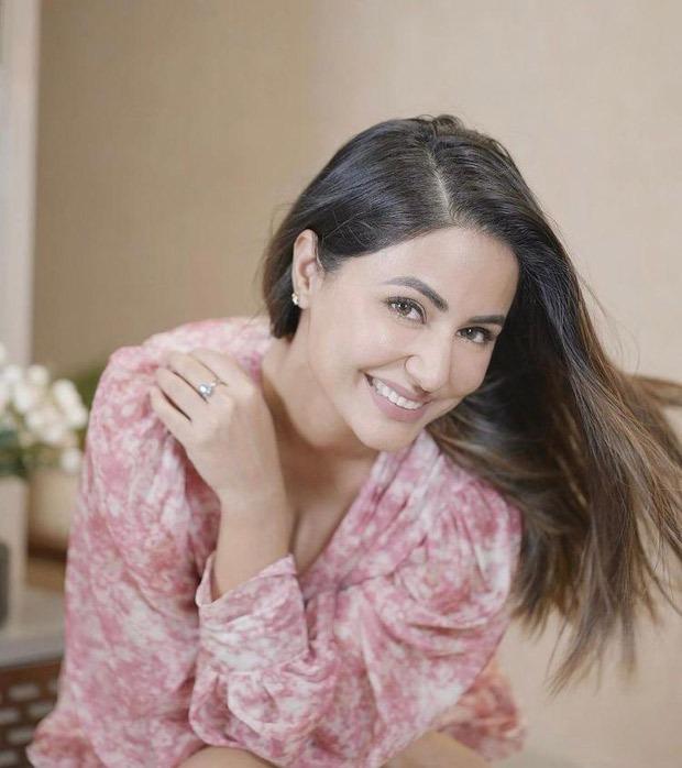 Hina Khan stuns in tie-dye mini pink chiffon dress