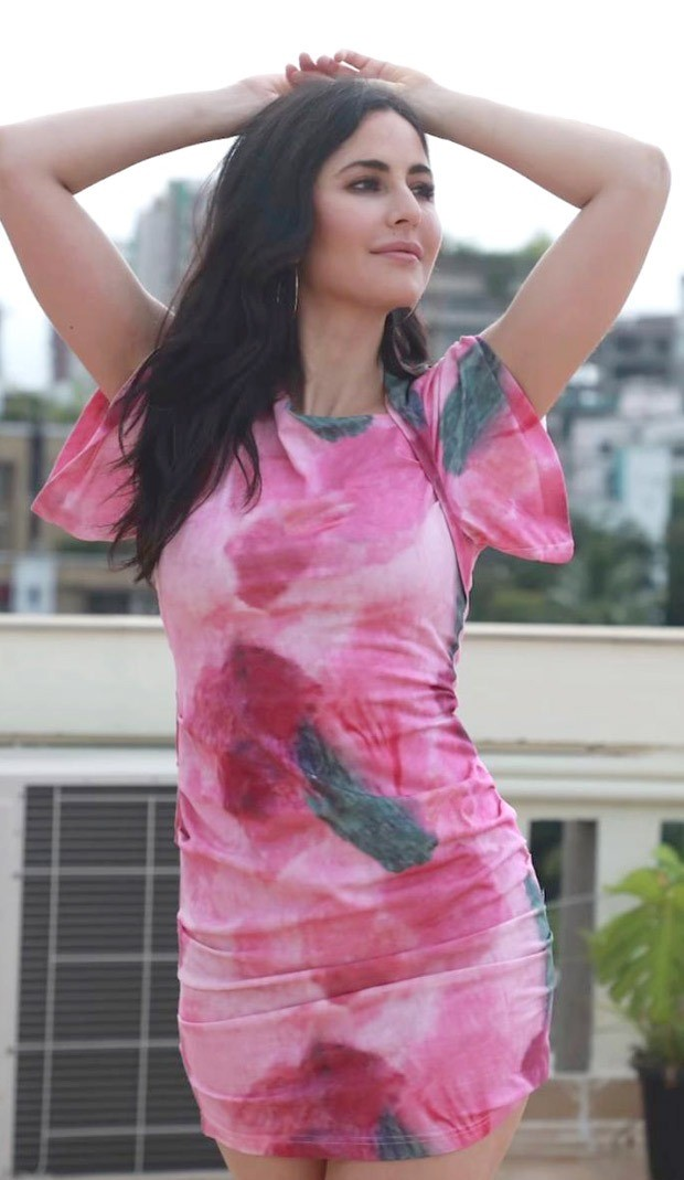 Katrina Kaif jumps on tie-dye trend, dons a mini pink dress for a gloomy morning
