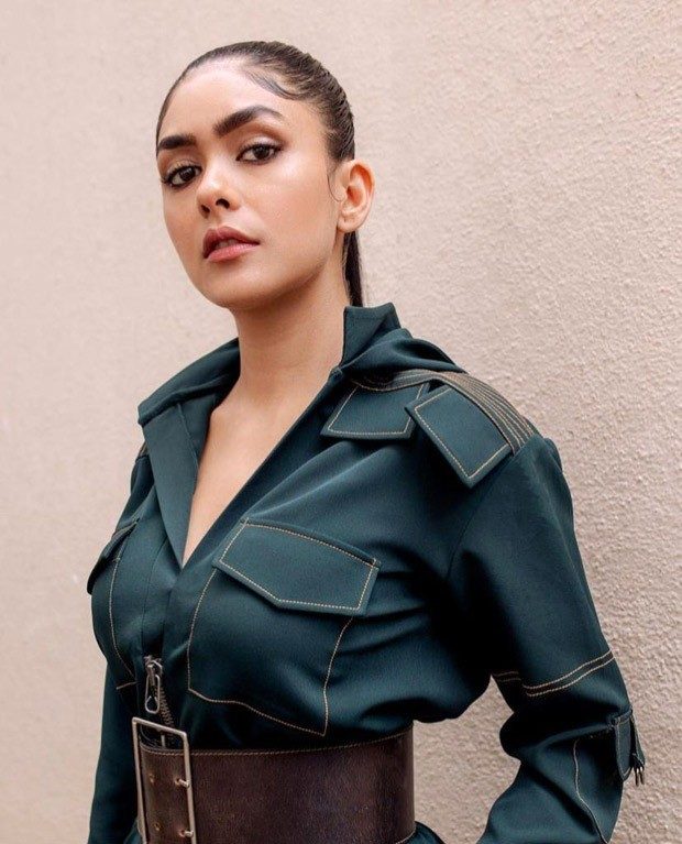 Mrunal Thakur steps out in forest green boiler suit worth Rs. 16,500 for Toofaan promotions