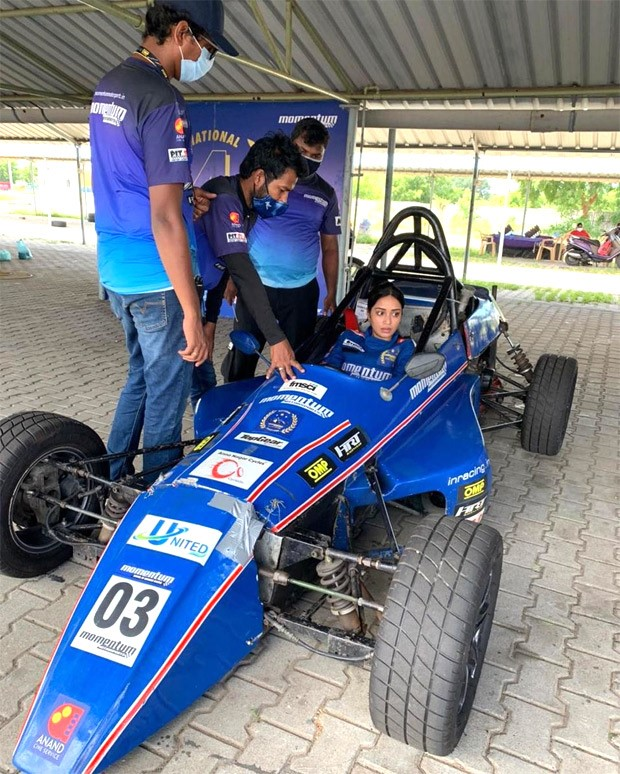 Nivetha Pethuraj pursues her dream, completes the first level of her Formula One training