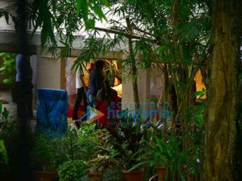Photos: Saira Banu brings Dilip Kumar's body home for last rites