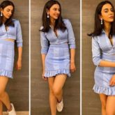 Rakul Preet Singh keeps it easy breezy in in a periwinkle crop top and mini skirt