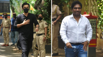 Ranbir Kapoor and Johnny Lever arrive at Dilip Kumar's home to offer their condolences