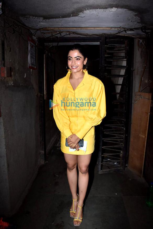 Photos: Rashmika Mandanna spotted at Monochrome Studios in Andheri
