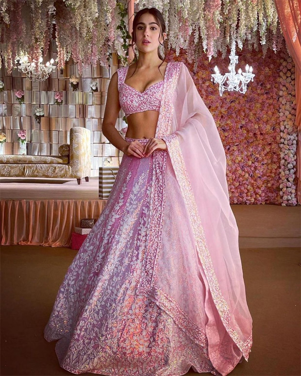 Sara Ali Khan channels princess vibes in MANISH MALHOTRA's pink chikankari lehenga
