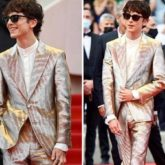 Timothée Chalamet shines bright in Tom Ford silver tuxedo and Chelsea heeled boots at Cannes Film Festival 2021 for The French Dispatch premiere