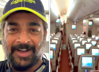 """""""Praying hard for this to end soon"""", says R Madhavan as he gives a spooky glimpse of his empty flight to Dubai"""