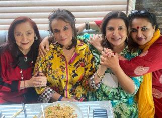 Farah Khan bumps into yesteryear iconsReena Roy, Mumtaz and Mallika Randhawa at a restaurant