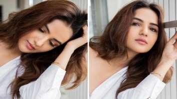 Jasmin Bhasin glows in oversized white shirt in latest photos