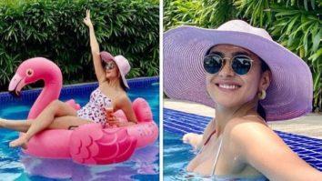 Mrunal Thakur looks resplendent in a floral bikini as she celebrates her birthday in Goa
