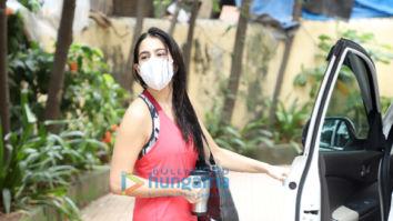 Photos: Sara Ali Khan, Khushi Kapoor and Dhvani Bhanushali spotted at gym Bandra