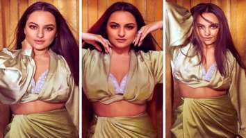 Sonakshi Sinha makes a sizzling statement in a crystallised bralette and green slit skirt
