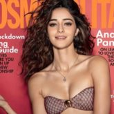 Ananya Panday looks resplendent in an all- maroon look for the cover of Cosmopolitan