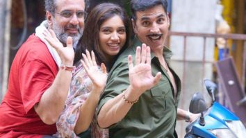"""I'm leaving the set a better actor""- Akshay Kumar bids adieu to the Mumbai sets of Raksha Bandhan with happy pictures"