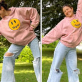 Anushka Sharma is the happiest as she strikes some fun poses at a park in London