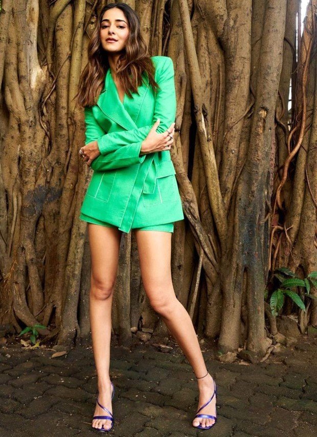 Ananya Panday gives style lessons on how to make a formalwear out of shorts in a blazer set worth Rs. 32,000