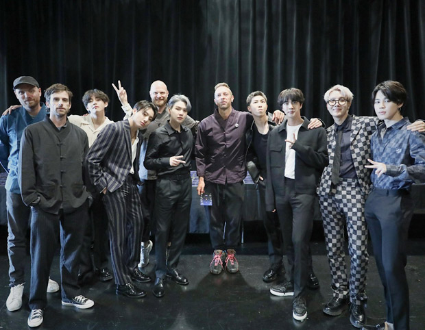 BTS and Coldplay meet in New York ahead of release of 'My Universe' collaboration; the group gifts hanbok to the British band