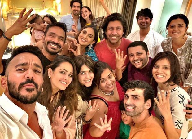Ekta Kapoor brings home Ganpati; Anita Hassanandani, Krystle D'Souza, Sanaya Irani, Barun Sobti and others attends the get together in all traditional outfits