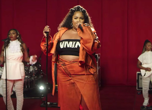 Lizzo covers BTS's chart-topper 'Butter' wearing a VMIN crop trop on BBC Radio 1's Live Lounge