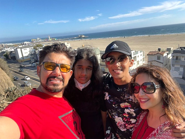 Madhuri Dixit spends quality time with family before son Arin joins US college