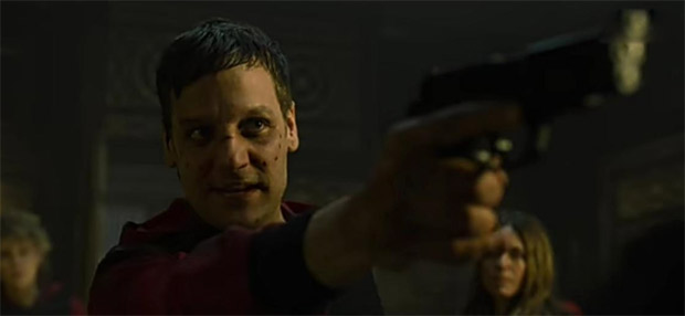 Money Heist 5 Part 2: Professor 'disappears' and gang points guns at each in exclusive clip dropped on Saturday