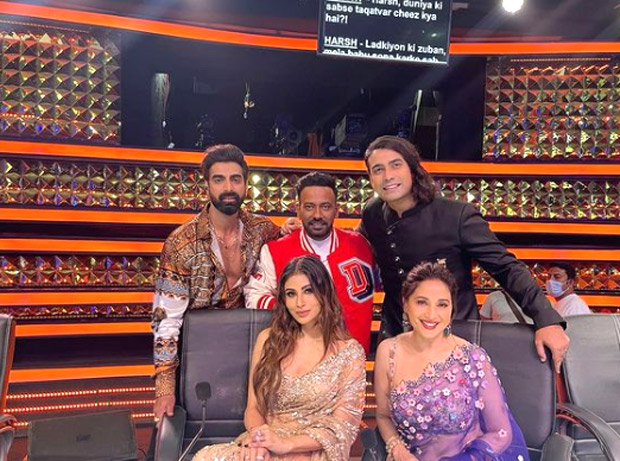Mouni Roy shares photos with Madhuri Dixit from 'lit evening' on Dance Deewane 3 sets