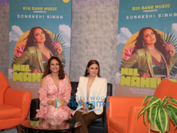 Photos: Sonakshi Sinha snapped at the preview of her track 'Mil Mahiya' in Andheri