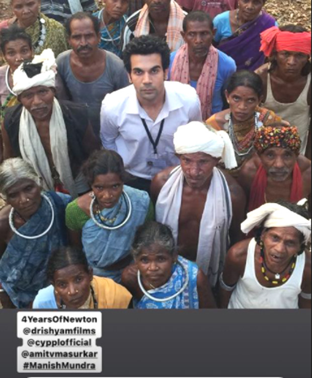 4 Years of Newton: Rajkummar Rao celebrates with throwback picture from the film
