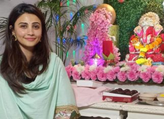 Daisy Shah looks elegant in Indian attire as she celebrates Ganesh Chaturthi at her place