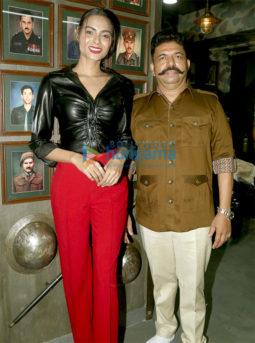 Photos: Madhur Bhandarkar and Ayeesha Aiman attend the launch of Shiva's Salon in Kandivali