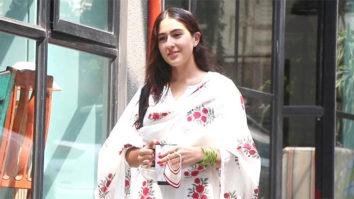 Snapped Sara Ali Khan at the office of Maddock films in Khar, Mumbai