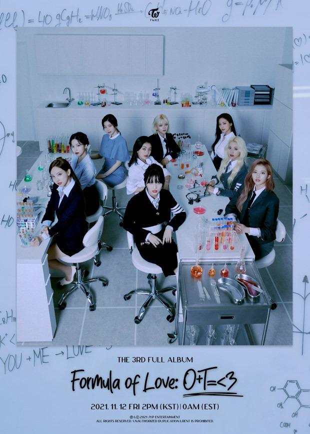 TWICE announce third studio albumFormula of Love: O+T=<3 releasing on November 12